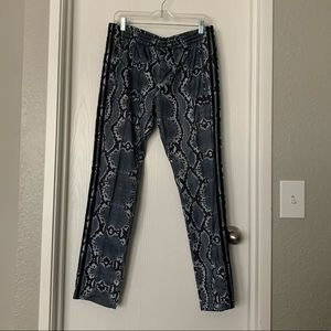 Adidas Pearl Grey Snakeskin Track Pants Size L
